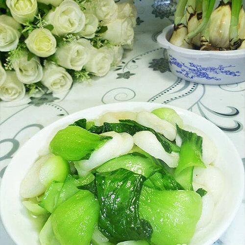 荸荠炒青菜
