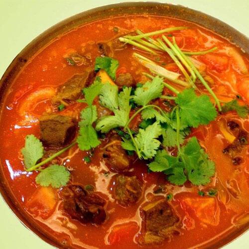 牛腩柿子汤