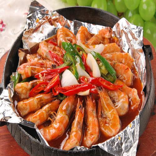 铁板烧汁虾