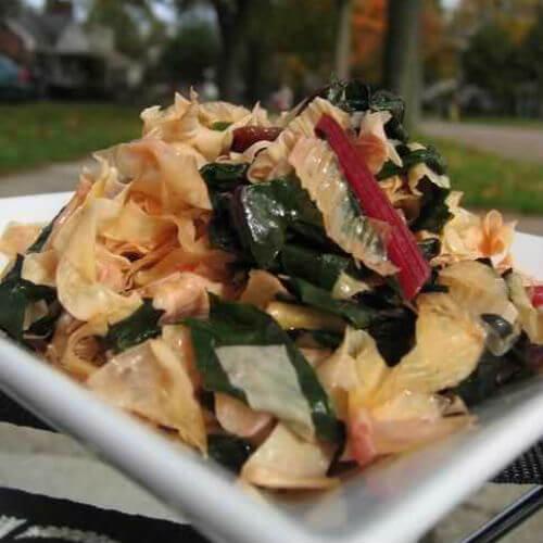 豆皮炒椰菜