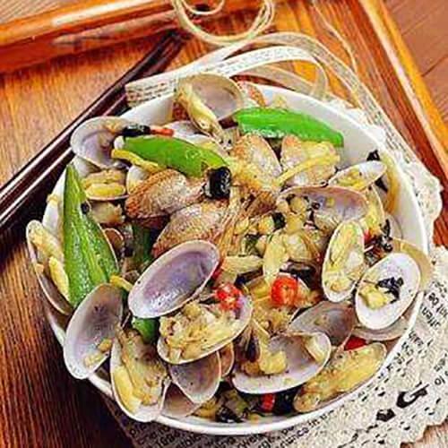 圆葱炒蛤蜊