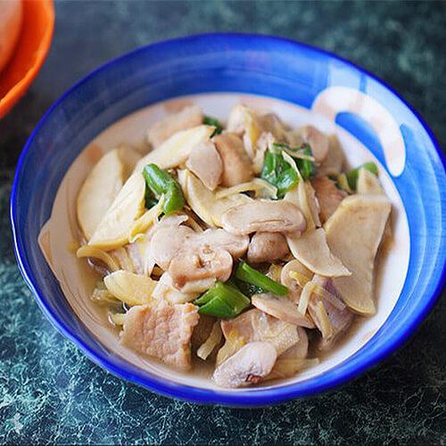 菌菇竹笋梅条肉汤