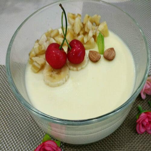 牛奶香蕉蒸蛋羹