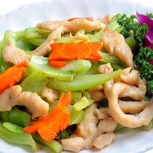 贡菜炒肉丝