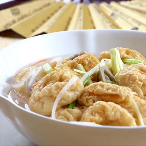 绉纱鱼腐浸冬寒菜