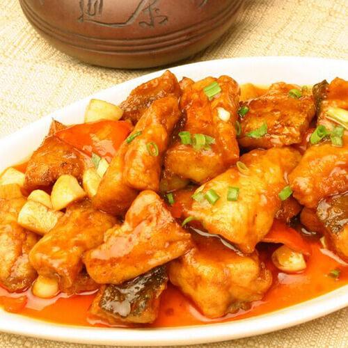 黄豆酱蒸鲑鱼块