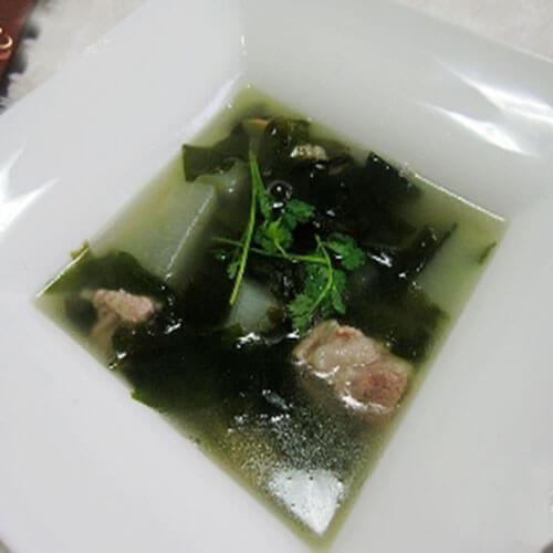 排骨螺旋藻冬瓜汤