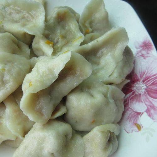 野生苦菜饺子
