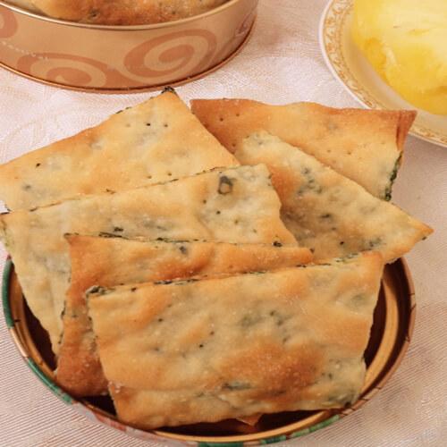 菠菜油酥饼干