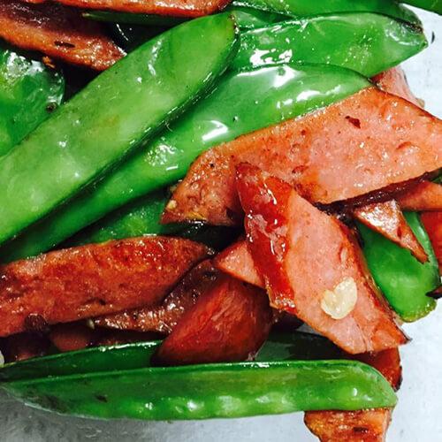 红肠炒刀豆