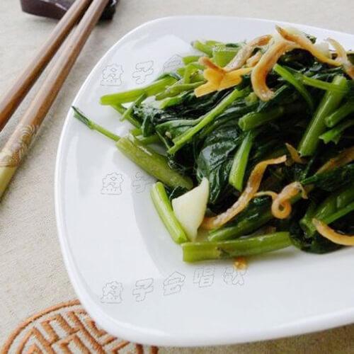 丁香鱼炒空心菜