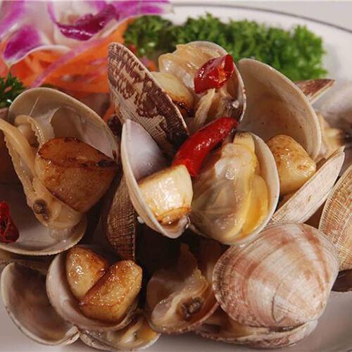 蛤蜊炒豆腐