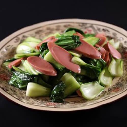 青菜炒火腿肠