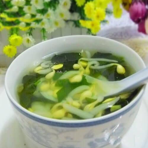 螺旋藻豆芽汤