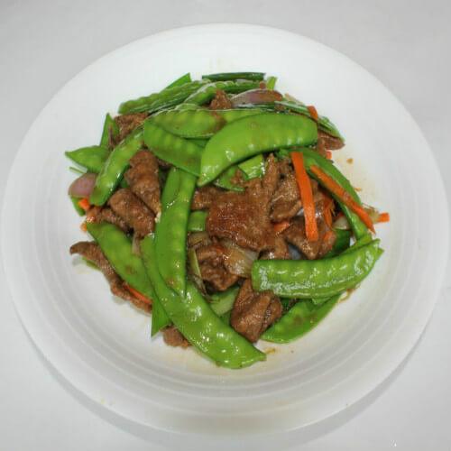 扁豆炒猪肝