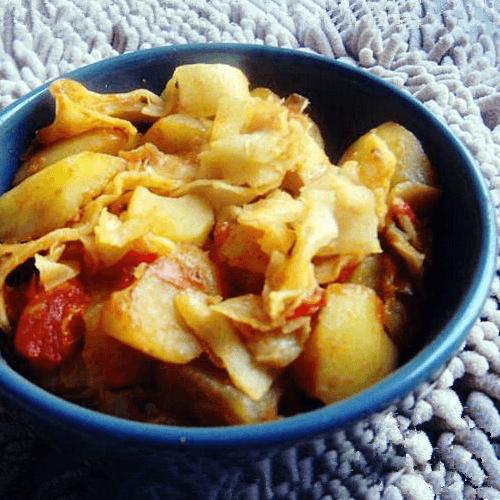 番茄土豆焖饼
