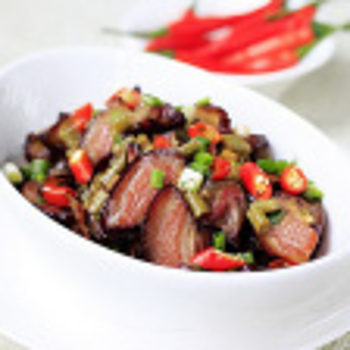 腊肉酸豇豆