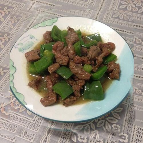 青椒蚝油牛肉粒