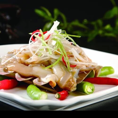 姜葱炒蛏子
