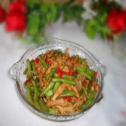 龙豆炒肉丝