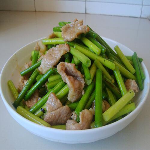 简单易做的蒜苔炒肉