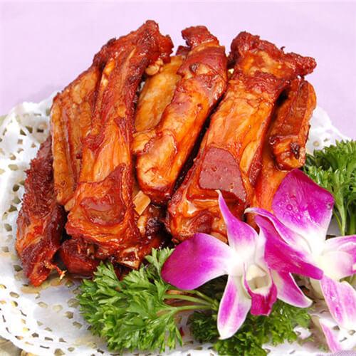 藕丝香炒酱羊排