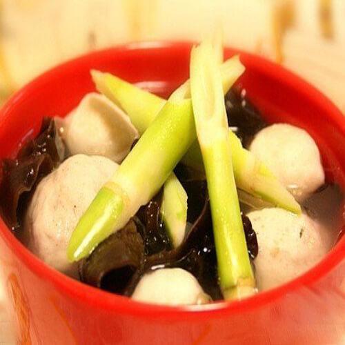 野生笋肉丸汤