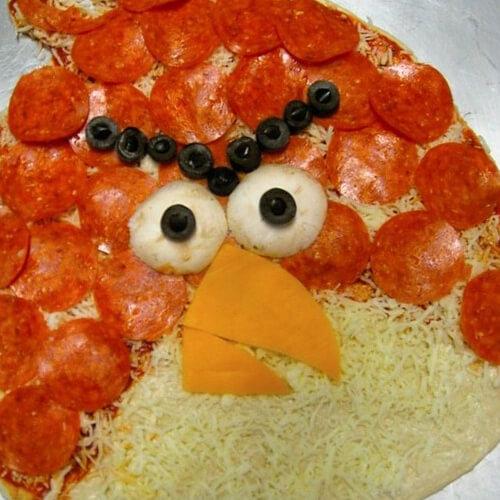 愤怒的小鸟米饭批萨