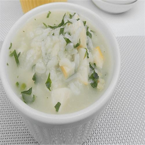 鸭蛋白青菜粥