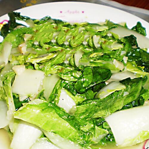 红菜苔炒白菜