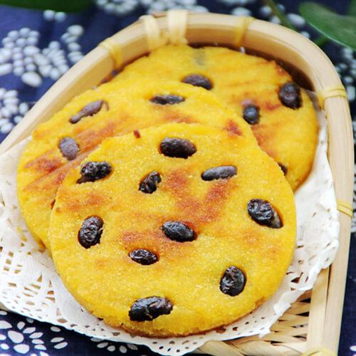 香甜玉米黑豆饼