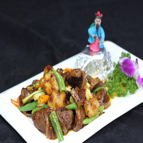 双椒白米虾