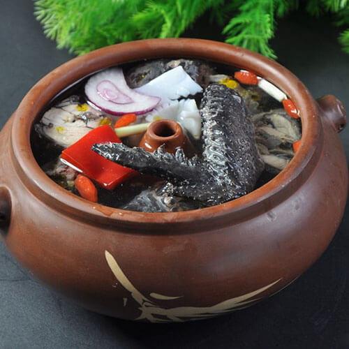 汽锅菌菇乌鸡