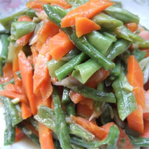 豇豆炒胡萝卜