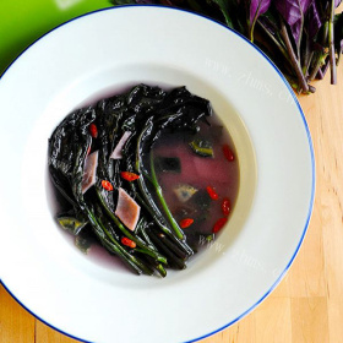 紫背天葵瘦肉汤