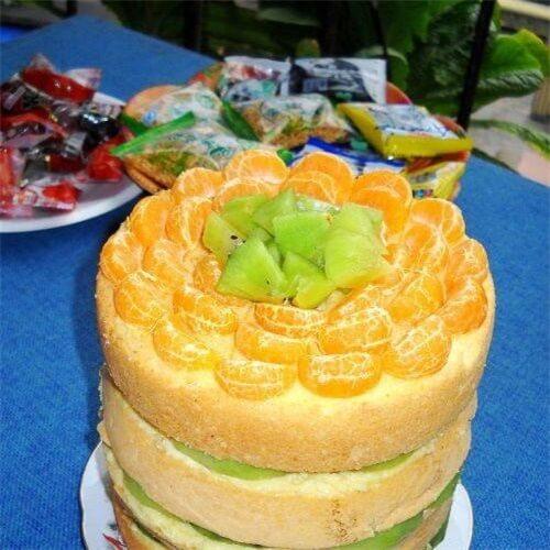 卡仕达海绵裸蛋糕
