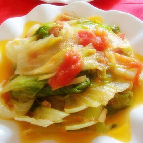 番茄生菜蛋花汤