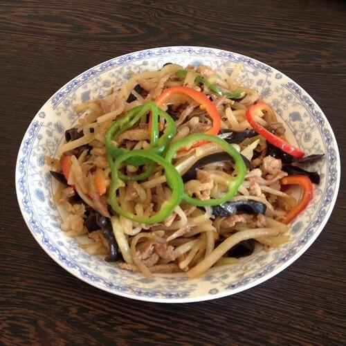 肉炒苤蓝三丝