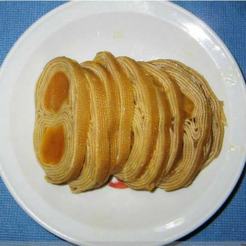 豆皮蛋黄卷
