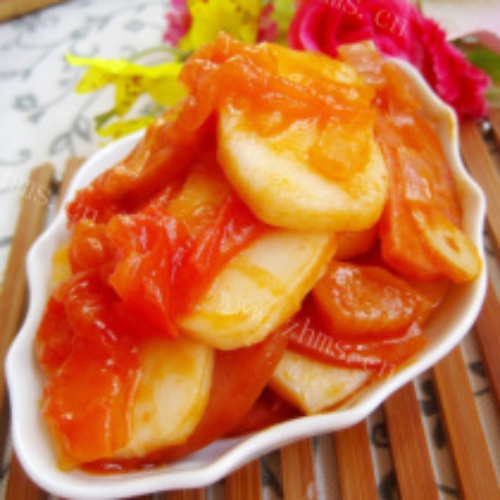 番茄火腿炒年糕
