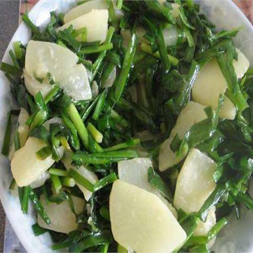 自制韭菜白瓜