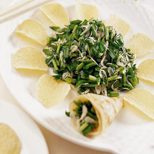 虾皮煮韭菜