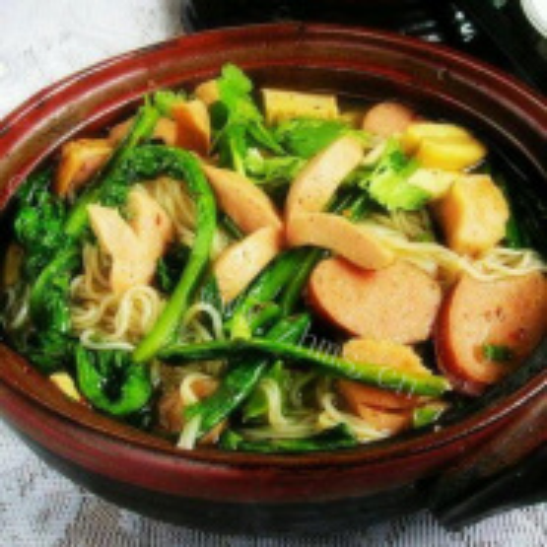 油麦菜鱼肉豆腐