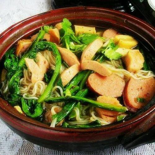 味道不错的油麦菜鱼肉豆腐