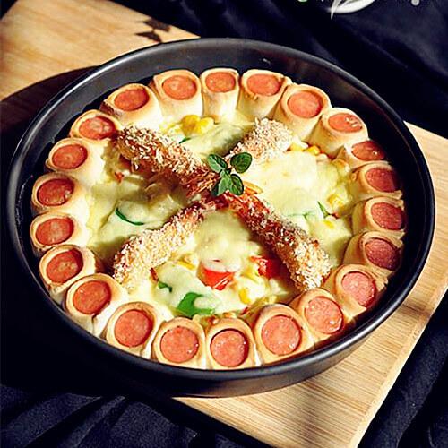 基围虾熏肠pizza