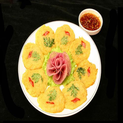 日式虾仁土豆饼