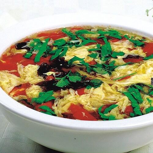 西红柿木耳鸭蛋汤