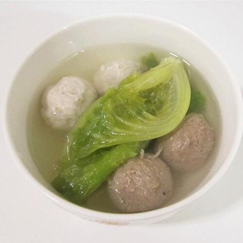 生菜烩丸子