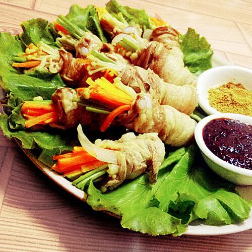 韩式五花肉时蔬卷