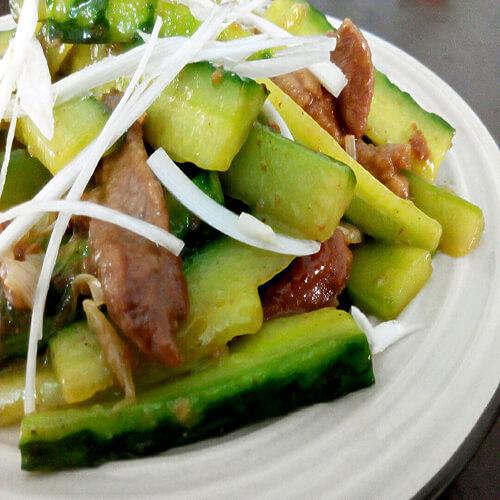 咸黄瓜炒肉片
